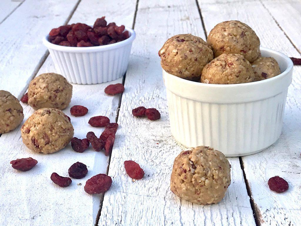 Sunbutter Cranberry Balls
